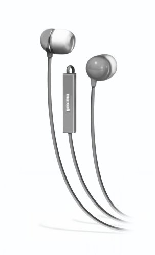 Maxell 190302 - IEMICSLV Stereo In-Ear Earbuds with Microphone  (Silver)