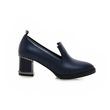 cirior Scarpe Blau vestito Donna tallone zehe pizzo pompe da blocco High tacco tacco donna Heels Dunkel THfTr