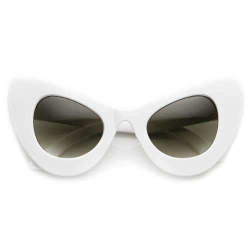 zeroUV - High Fashion Bold Oversized Women's Cat Eye Sunglasses - Farrow Cat Sunglasses Eye Linda