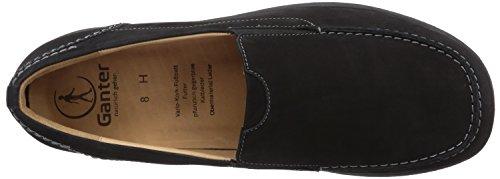 Ganter HERMES, Weite H - Zapatillas de casa de cuero hombre negro - Schwarz (schwarz 0100)