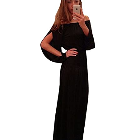 New Womans Black Off Shoulder Maxi Dress Prom Dress Evening Party Wear Plus Size UK 8