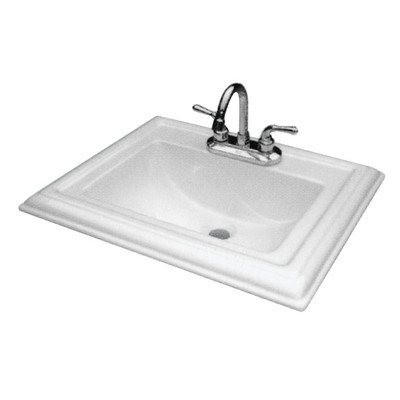 Transolid TL-1548 Self-rimming Drop-in 8in Centerset Avalon Lavatory in White