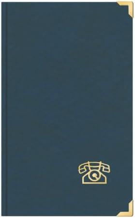 Telefonbuch Adressbuch ca DIN A5 mit Messingecken blau