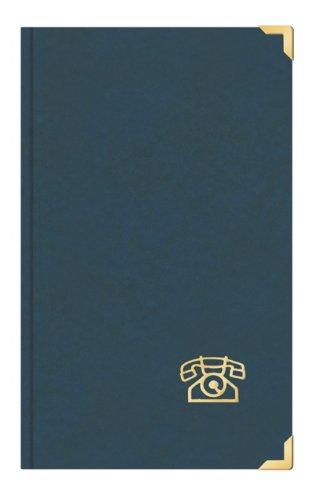 Telefonbuch Adressbuch ca DIN A5 mit Messingecken blau Toppoint