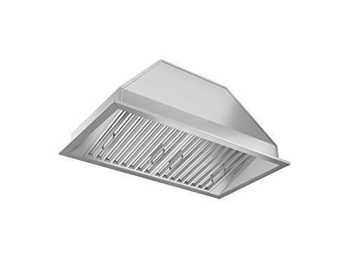 Ancona AN-1311 Chef Series Built-in 28″ Ducted 600 CFM Insert Range Hood with LED Lights, Silver