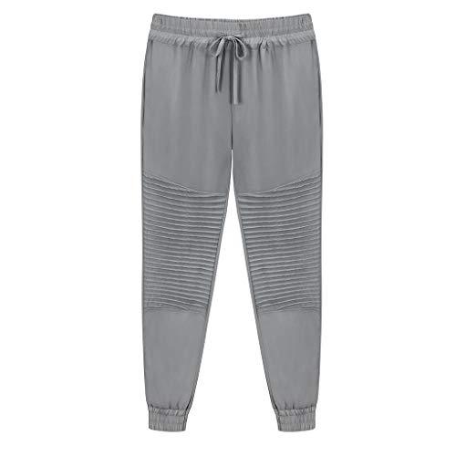 (WILLBE Women Yoga Running Pants Outdoor Lounge Sweat Pants Side Pockets Drawstring Lightweight Sweats Yoga Lounge Pants Gray)