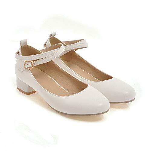 Sandali 35 White 1TO9 Donna Sconosciuto con Zeppa Bianco MMS06113 q1BOR8wOE