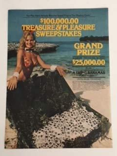 - 1980 Playboy Clubs Treasure & Pleasure Sweepstakes Magazine Print Advertisement