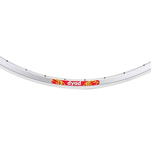 Velocity Dyad Rim - 700 x 20/23 - 36H (Silver 700c Clincher)