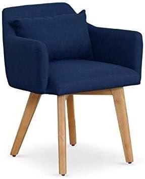 Menzzo Gybson Otros Muebles, Tela, Azul, 58: Amazon.es: Hogar