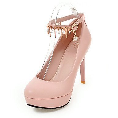 Le donne sexy elegante sandali donna tacchi Primavera Estate Autunno Inverno scarpe Club PU Office & Carriera Party & abito da sera Stiletto Heel nero rosa bianco , nero , us8 / EU39 / UK6 / CN39