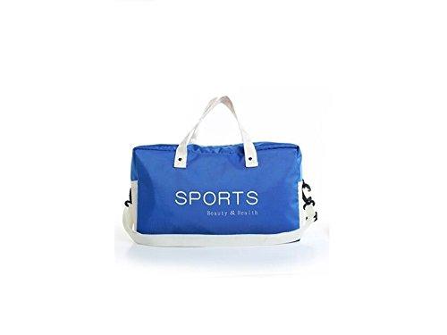 De Plein air Grande Capacité Sac de Natation Gym Sac Sport Holdall Voyage Weekender Duffel Bag pour Homme et Femme (Bleu) pour Voyager