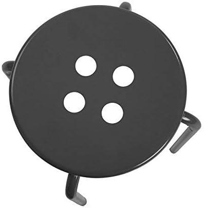 Versa Omis Taburete Metal Negro 30x30x45 cm