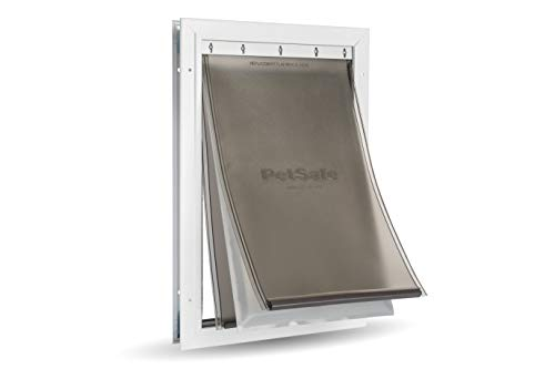 PetSafe Extreme Weather Energy Efficient Aluminum Pet Door for Cats and Dogs -Insulated Flap System - Large
