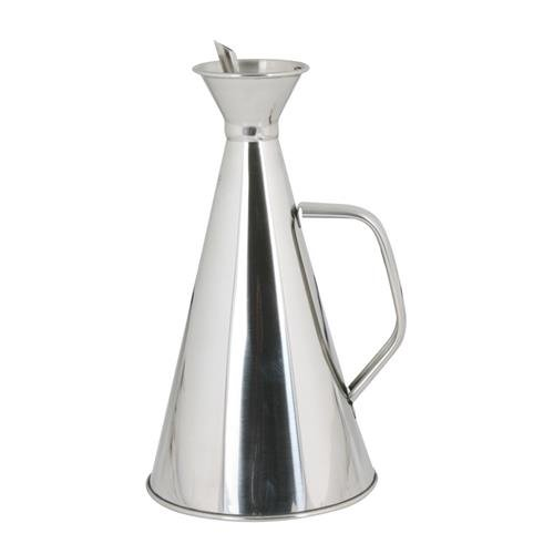 Ilsa 384 Stainless Steel Anti-Spill Oil Bottle, 1/4 L, Silver-Coloured