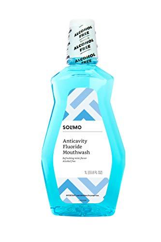 (Amazon Brand - Solimo Anticavity Fluoride Mouthwash, Alcohol Free, Refreshing Mint, 1 Liter)