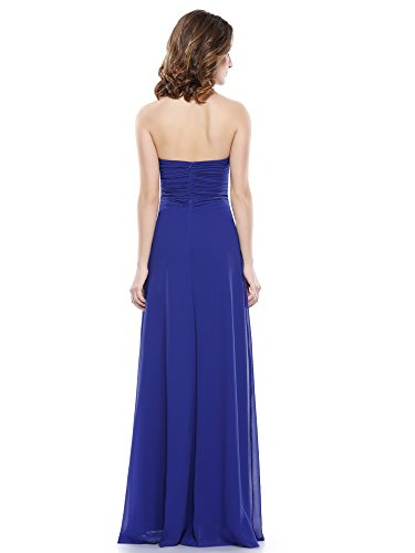 Pretty Ceremonie en 08487 Bleu de Longue de Soiree Ruche Halter Ever Saphir Robe Robe xY1dqn4W