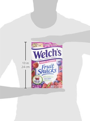 WELCH'S Berries 'n Cherries Fruit Snacks, 0.9 Ounce, 130 Count (130 Count) by Welch's (Image #5)