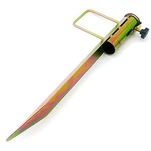 Land-Haus-Shop®, picchetto di supporto per ombrellone o stendibiancheria, da piantare nel terreno, in lamiera di acciaio… 8 spesavip