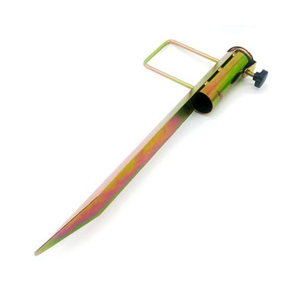 Land-Haus-Shop®, picchetto di supporto per ombrellone o stendibiancheria, da piantare nel terreno, in lamiera di acciaio… 1 spesavip
