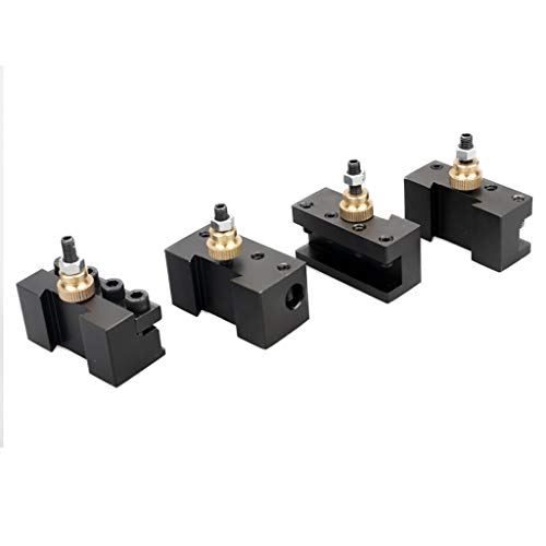 Mini Quick Change Tool Post Set For 7x10 7x12 7x14 Table Hobby Lathes (Sliver)