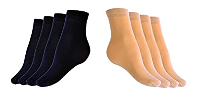 Sheer Ankle Socks 8 Pairs Pack - Cute Transparent Hosiery For Women