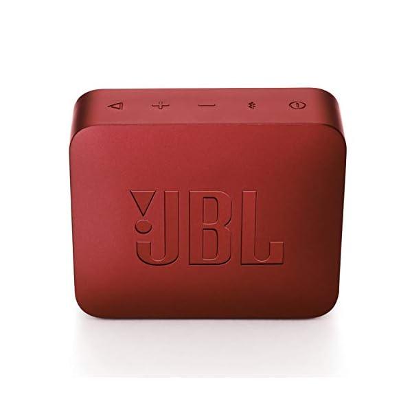 JBL Go 2 - Mini enceinte Bluetooth Portable - Étanche pour Piscine & Plage Ipx7 - Autonomie 5hrs - Qualité Audio JBL - Rouge 5