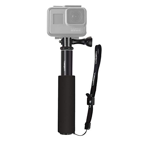 Luxebell Selfie Stick Telescopic Pole Pocket Purse Size with Phone Clip Holder for Gopro Hero 7 6 5, Session 5, Hero 4/3+/3/2 and Cellphone 6.6