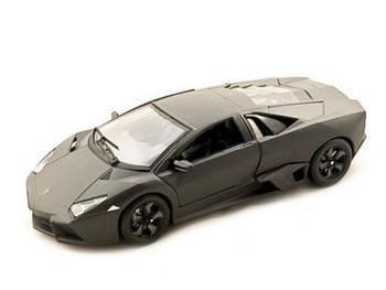 Lamborghini Reventon Diecast Model Car 1/24 Flat Black By Burago