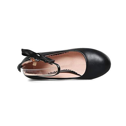 AdeeSu Femme SDC05623 Sandales Compensées Noir vqFvRwrx