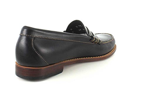 Bass 10990 Leather Black amp; 70 Larson Penny Up Loafer Pull Co Men's G H 5FqwfxR