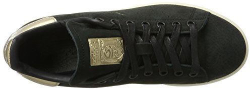 adidas Golden Women's Stan Leaf 5 Originals and Originals Smith Sneaker Black Black US 7 5 Nubuck UK r8qr54xt
