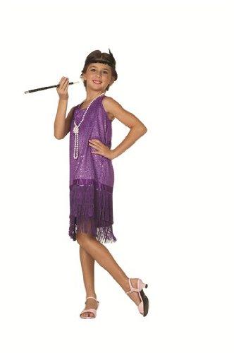 Sequin Flapper,Purple,Small 4-6