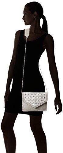 PIECES Damen Pcblossom Suede Cross Body Bag Umhängetaschen, 25x19x5 cm Grau (Moonbeam)