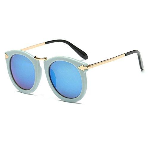 Aoligei Lunettes de soleil lunettes de soleil tendance Star flèche rétro Lady lunettes de soleil en métal B