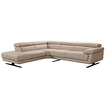 Amazon.com: Divani Casa Gypsum Modern Taupe Leather ...