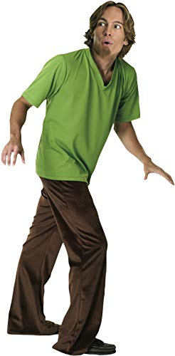 Scooby-Doo Deluxe Adult Shaggy Costume, SHAGGY, Standard Size