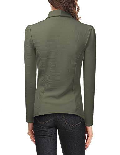 NINEXIS Womens Classic Draped Open Front Blazer Olive XL by NINEXIS (Image #5)