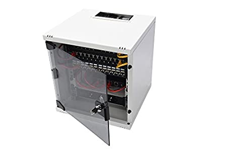 Digitus Wandschrank Modell : Digitus professional 10u2033 254mm netzwerkschrank 6he 330x312x300