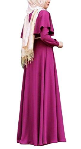 Matita donne Rosa Classico D'epoca Lungo Rossa Abito Rigonfio Coolred Musulmano XqpwfO