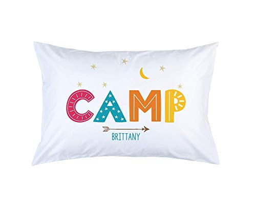 Summer Camp Pillowcase, Autograph Pillow Case, Camp Friends Signature Pillowcase, Standard Size