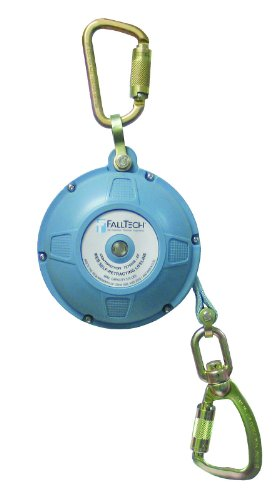FallTech 7276WR Contractor/Dyneema Web SRL- Glass-Filled Nylon Housing, Dyneema Web, Connecting Carabiner, Load-Indicating Swivel Carabiner, 20', Blue by FallTech
