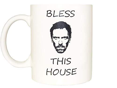 Bless this house Mug, Coffee Cup Funny Mug tea Birthday Gift for Him Dr Gregory House - Hugh Laurie