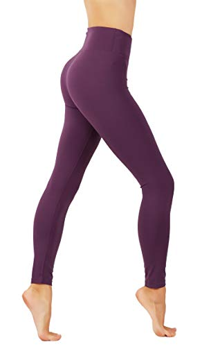 CodeFit Yoga Pants Power Flex Dry-Fit Soled and Cross Mesh Exposed Back Zipper Leggings (L US Size 10-12, CF60-PUR) ()