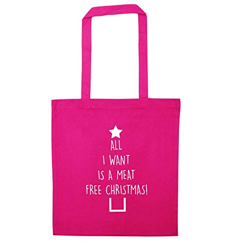 Free Pink Meat I Creative Bag Flox Christmas Tote Want ZqYUXH8