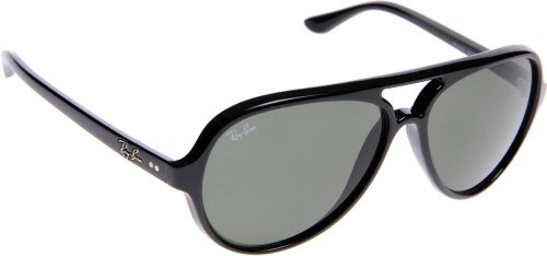 Ray-Ban Cats 5000 Sunglasses - Men's Black/Crystal Green, One ()