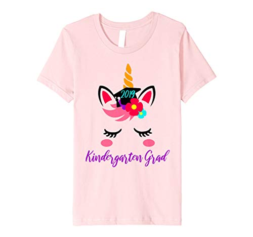 Kids Kindergarten Grade Graduation 2019 Unicorn Lovers Gift Shirt ()