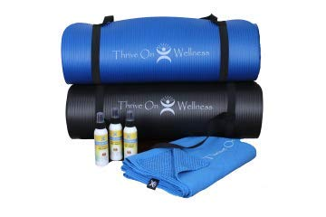 Thrive On Wellness Slipless Yoga Towel Mat