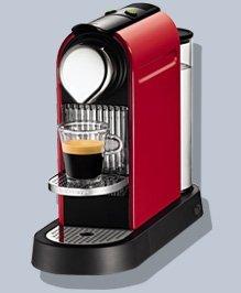 Nespresso C110-US-RE-NE CitiZ Automatic Single-Serve Espresso Maker, Fire-Engine Red