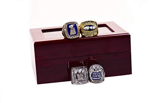 GF-sports store New York Giants 1986 1990 2007 2011 XXI XXV XLII XLVI Supper Bowl Championship Rings Display Box Full Set Replica